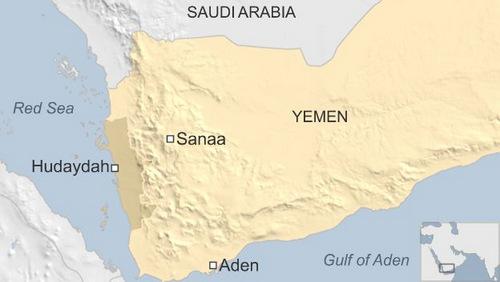 Vị trí thành phố cảng Hodeidah (còn gọi là Hudaydah). Đồ họa: BBC.