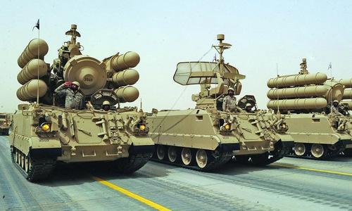 Một hệ thống Shahine tham gia duyệt binh năm 2014. Ảnh: Bộ Quốc phòng Arab Saudi.