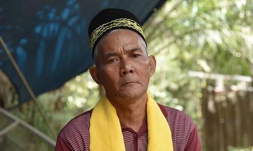 Ông Sikbukdin, thủ lĩnh bộ lạc Paser Balik ở huyện Penajam Paser Utara, tỉnh Đông Kalimantan, Indonesia. Ảnh: CNA.