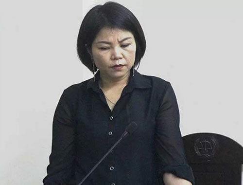 Bà Vững tại phiên tòa xét xử Nguyễn Thị Vân.