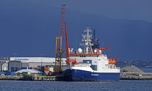Tàu Polarstern khởi hành từ thành phố Tromso, Na Uy hôm thứ Sáu. Ảnh: Rappler.
