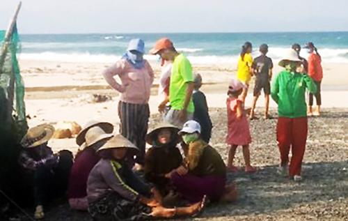 Bãi biển nơi nhóm du khách gặp nạn. Ảnh: Hồng Phương.
