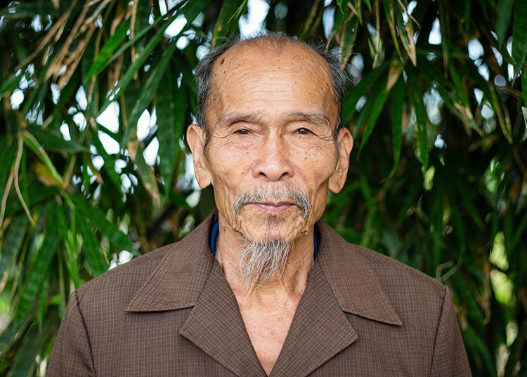 Anh hùng phi công Nguyễn Văn Bảy ở quê nhà Đồng Tháp năm 2018. Ảnh: Thành Nguyễn