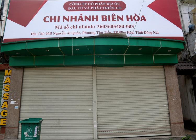 Văn phòng chi nhánh Biên Hòa của Công ty cổ phần địa ốc Alibaba. Ảnh: Phước Tuấn