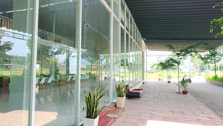 Văn phòng ở xã Châu Pha, thị xã Phú Mỹ đã đóng cửa. Ảnh: Nguyễn Khoa.
