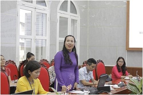 Cô Nguyễn Thị Bích Diệp, trường Tiểu học Tân Mai, quận Hoàng Mai