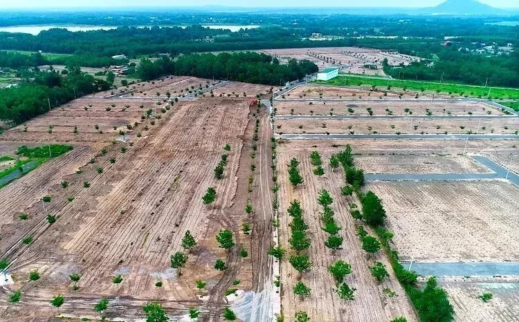 Khu đất rộng hơn 13 ha ở thị xã Phú Mỹ đã bị cưỡng chế tháo dỡ hạ tầng. Ảnh: Nguyễn Khoa.