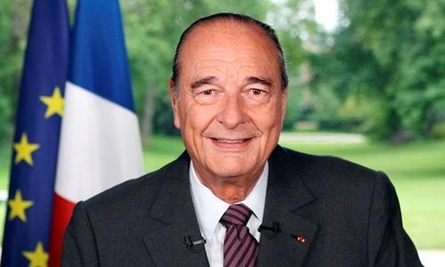 Cựu tổng thống Pháp Jacques Chirac phát biểu tại Điện Elysee ở Paris tháng 5/2007. Ảnh: Reuters.