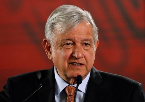 Tổng thống Mexico Andres Manuel Lopez Obrador dự họp báo ở thủ đô Mexico City hôm 30/8. Ảnh: Reuters.