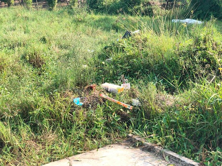 Khu vực thi thể Sang được phát hiện vào tối ngày 28/9. Ảnh: Phạm Dự