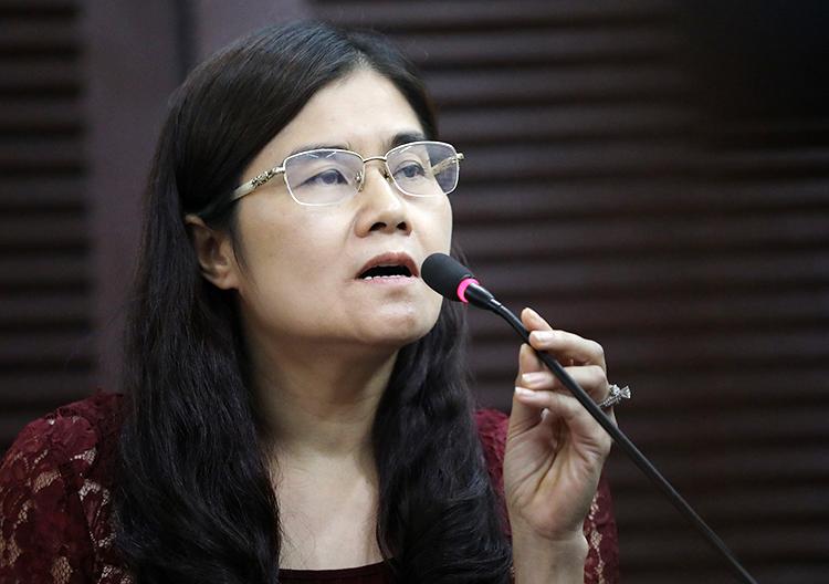 Bà Nguyễn Minh Hoài. Ảnh: Hữu Khoa.