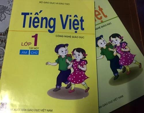 Sách Tiếng Việt Công nghệ giáo dục lớp 1 đang được hơn 900.000 học sinh sử dụng. Ảnh: Lê Nam