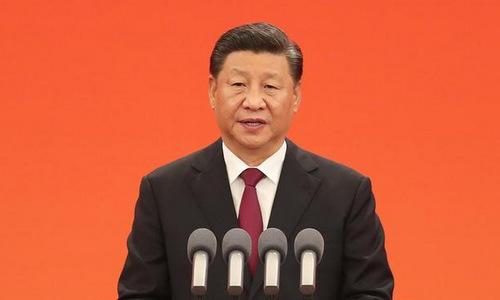 Ông Tập phát biểu trong lễ trao huân chương tại Bắc Kinh hôm 29/9. Ảnh: Xinhua.