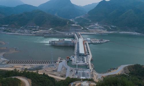 Đập thủy điện Xayaburi trên sông Mekong ở Lào. Ảnh: Thai PBS World.