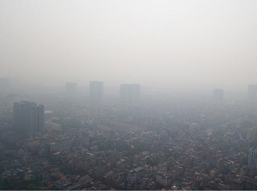 Bầu không khí ô nhiễm ở Hà Nội. Ảnh: Giang Huy