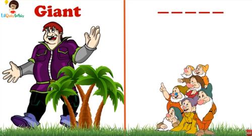 Đoán từ tiếng Anh trái nghĩa qua hình ảnh