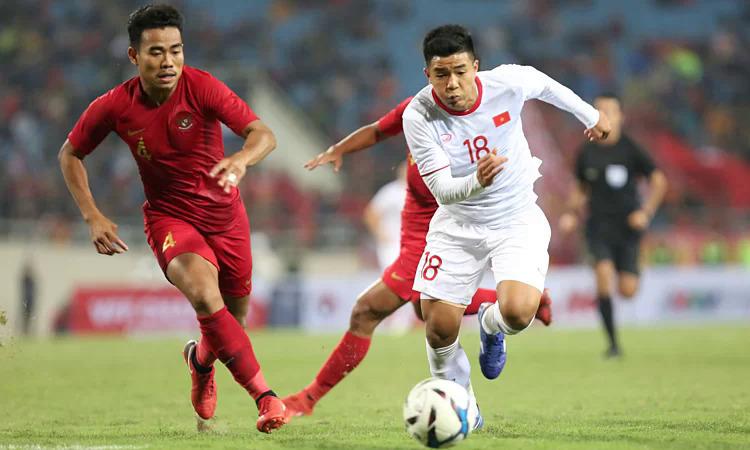 Việt Nam đánh bại Indonesia trong lần gặp nhau gần nhất tại vòng loại U23 châu Á 2020 tại Mỹ Đình. Ảnh: Xuân Bình.