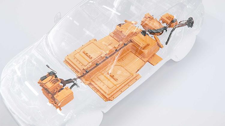 Sắp xếp các bộ phận trên XC40 chạy điện. Ảnh: Volvo