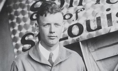 Charles Lindbergh tại Mỹ năm 1927. Ảnh:MHS.