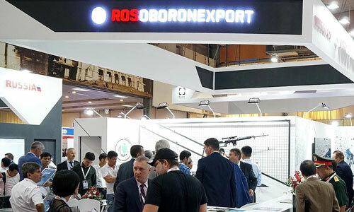 Gian hàng của Rosoboronexport tại DSE 2019. Ảnh: TASS.