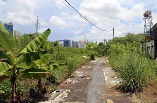 Khu đất 4,3 ha vẫn bỏ hoang chưa được xây dựng và chỉ còn vài hộ sinh sống. Ảnh: Trung Sơn.
