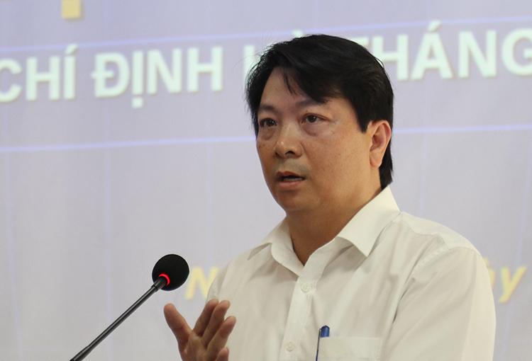 Ông Chu Anh Tuấn (Phó Giám đốc Sở xây dựng Nghệ An) ngày 7/10. Ảnh: Nguyễn Hải.