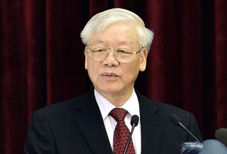 Tổng bí thư, Chủ tịch nước phát biểu khai mạc Hội nghị Trung ương 11 sáng 7/10. Ảnh: Nhật Bắc