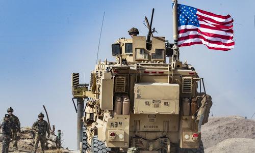 Lực lượng Mỹ tại một trạm gácở miền bắc Syria hôm 6/10. Ảnh: AFP.
