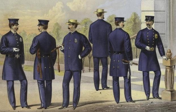 Cảnh sát thành phố New York năm 1871. Ảnh: Wikimedia Commons.