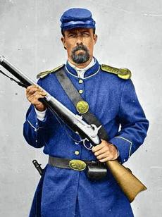 Trang phục của người lính Liên bang miền Bắc trong Nội chiến Mỹ. Ảnh: Creative Commons.