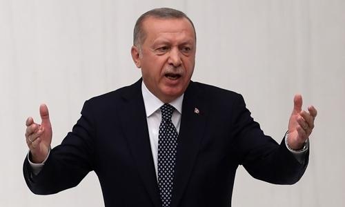 Tổng thống Thổ Nhĩ KỳRecep Tayyip Erdogan tại Ankara ngày 1/10. Ảnh: AFP.