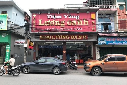 Tiệm vàng Lương Oanh đã hoạt động trở lại. Ảnh: Minh Cương