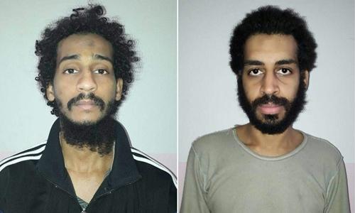 Alexanda Kotey (phải)và El Shafee Elsheikh. Ảnh: AFP.