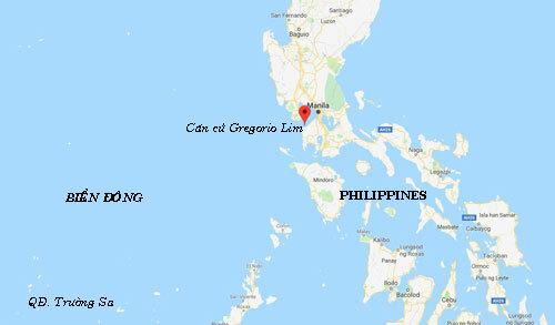Vị trí căn cứ Gregorio Lim, nơi sẽ diễn ra cuộc diễn tập đổ bộ ngày 12/10. Đồ họa: Google.