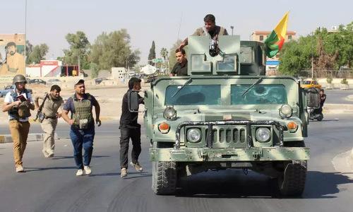 Lực lượng Peshmerga tại thành phố Kirkuk cuối năm 2017. Ảnh: Reuters.