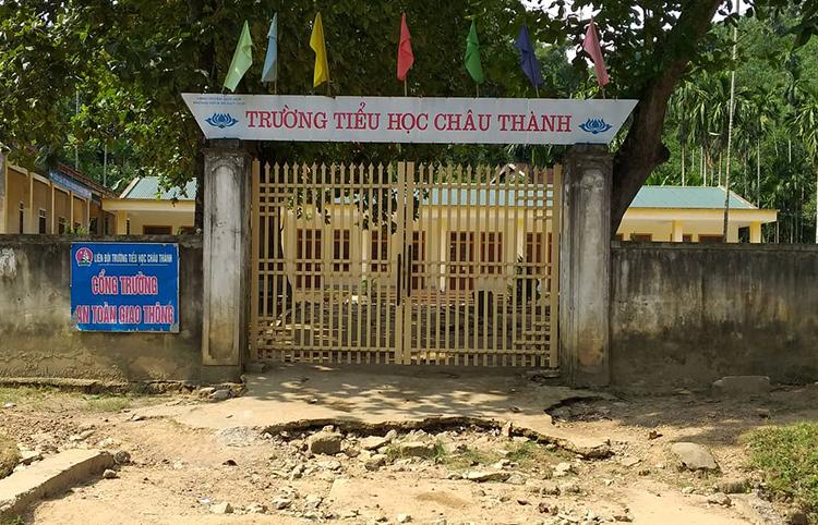 Một điểm Trường tiểu học Châu Thành nơi ông Võ Xuân Tuyến công tác.