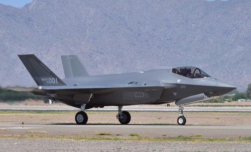 Tiêm kích F-35A đầu tiên của Hàn Quốc bay thử ở Mỹ năm 2018. Ảnh: USAF.