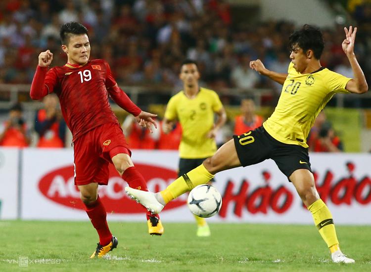 Quang Hải là cầu thủ hay nhất trận Việt Nam - Malaysia. Ảnh: Lâm Thoả