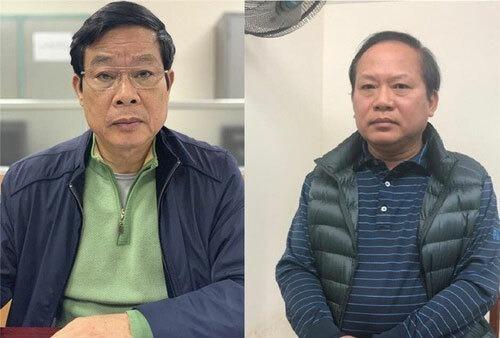 Ông Nguyễn Bắc Son và Trương Minh Tuấn (từ trái qua). Ảnh:Bộ Công an.