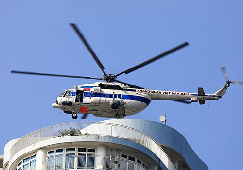 Máy bay quân sự sẽ tham gia diễn tập. Ảnh: Trương Linh.