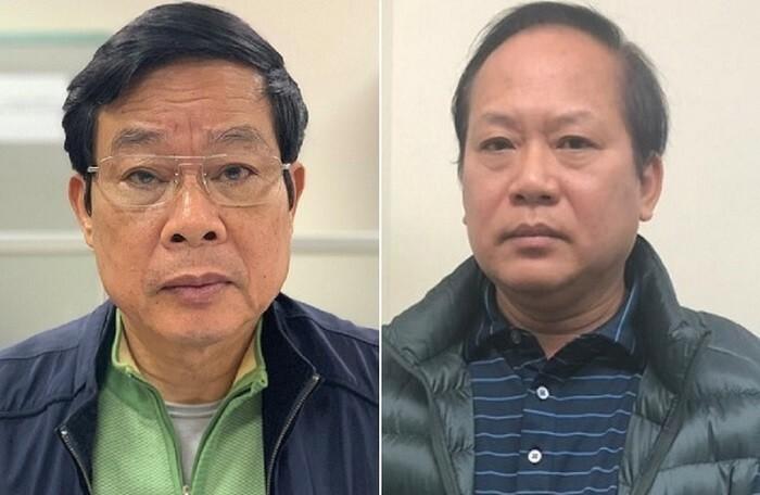 Ông Nguyễn Bắc Son, Trương Minh Tuấn (từ trái qua) bị Hội nghị Trung ương 11 khai trừ Đảng. Ảnh: Bộ Công an