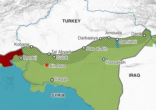 Vị trí trại tị nạn Ain Issa