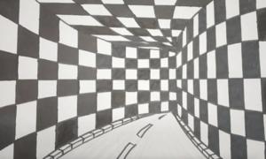 Cách vẽ đường hầm 3D