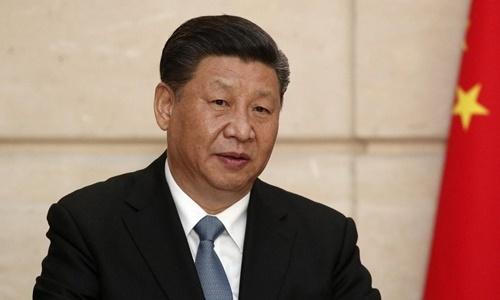 Chủ tịch Trung Quốc Tập Cận Bình trong một cuộc họp báo hồi tháng 3. Ảnh: Reuters.