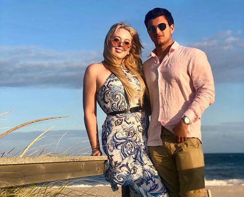 Tiffany và bạn trai  Michael Boulos. Ảnh:  Michael Boulos/ Instagram