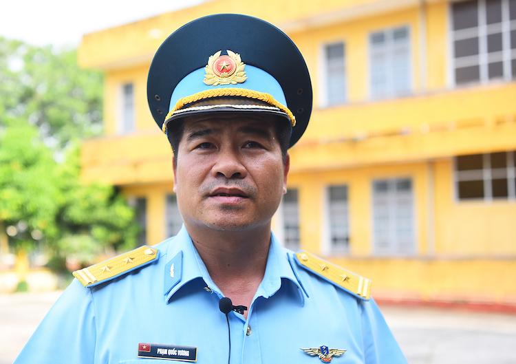 Trung tá Phạm Quốc Vương,Phó trung đoàn trưởng, Tham mưu trưởng Trung đoàn 927. Ảnh: Giang Huy