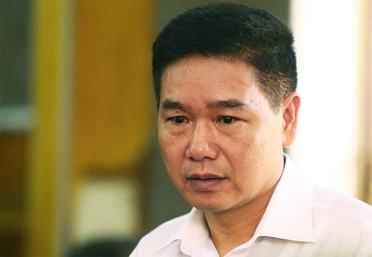 Bị can Trần Xuân Yến tại phiên xử mở giữa tháng 9. Ảnh: Phạm Dự.