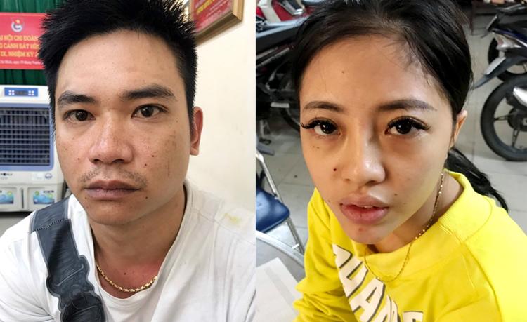 Phan Phi Long và người tình bị bắt tại khách sạn. Ảnh: Đội 3 PC02.