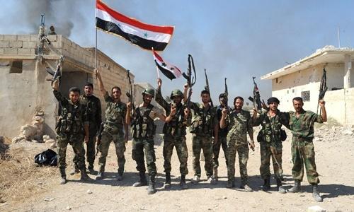 Các binh sĩ quân đội Syria. Ảnh: AFP.