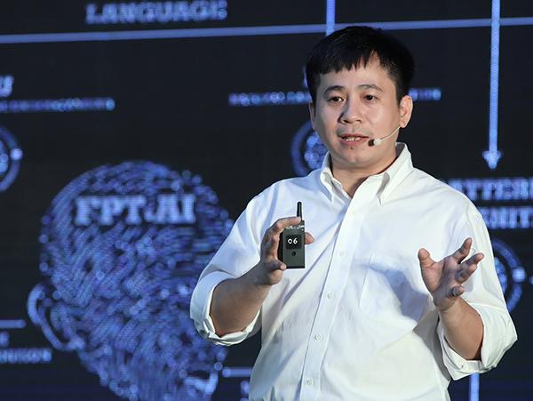 Ông Lê Hồng Việt, Giám đốc Công nghệ FPT tại sự kiện.
